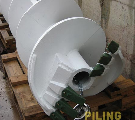 Image of the Continuous flight auger for drilling
