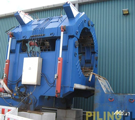 Image of pin pile upending frame 1